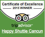 TripAdvisor Certificate of Excellence Happy Shuttle Cancun