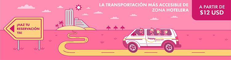 Transportacion a la Zona Hotelera de Cancún