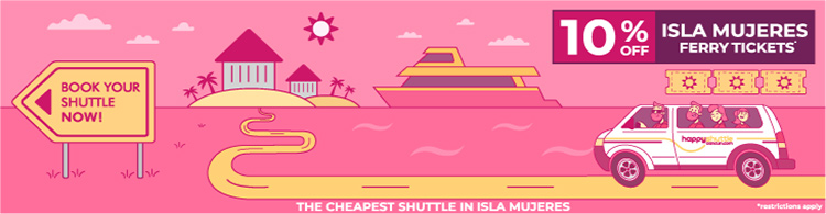 Cancun Shuttle to Isla Mujeres Ferry
