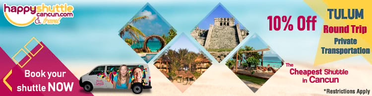 Cancun Shuttle to Tulum
